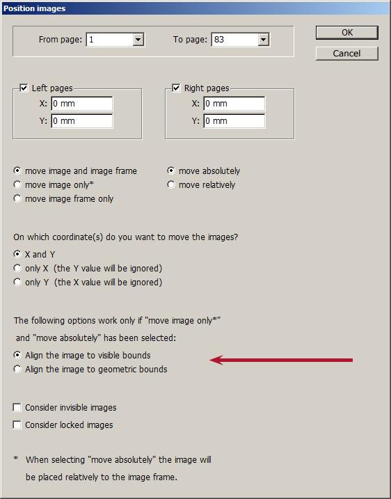 InDesign script - Position images